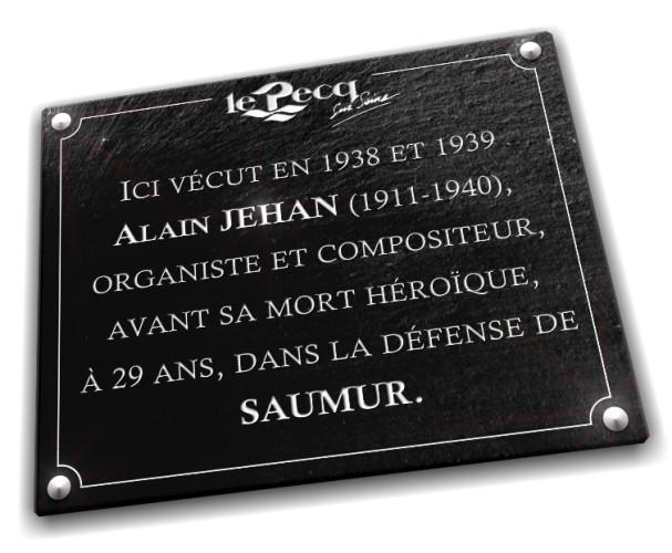 Une plaque de commémoration, l'incontournable pour immortaliser un souvenir