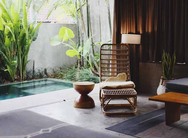 Idées d'aménagement pour un salon de jardin exotique